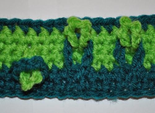 Decorative Loops on Crochet Collar