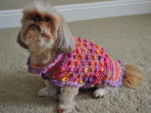 Bella Tiny Bobbles and Frills Crochet Sweater