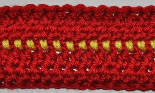 Single Crochet Seam Wrong Side