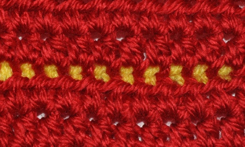 Slip Stitch Seam Example Wrong Side
