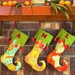Citrus Holiday Elf Stockings