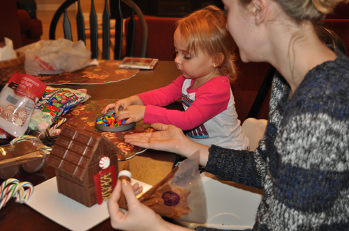 Assembling and Decorating the Chocolate Candy Bar House