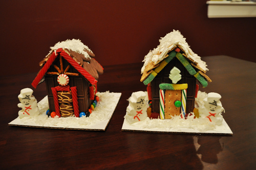 Finished Chocolate Bar Houses