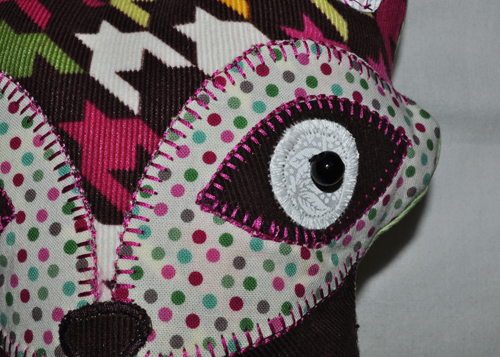 Fox Animal Pillow from Stitchwerx Designs Eye Details