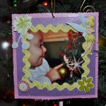 Photo Frame On Tree Front View
