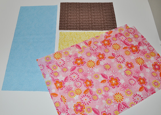 cut these pieces for pillow front & back