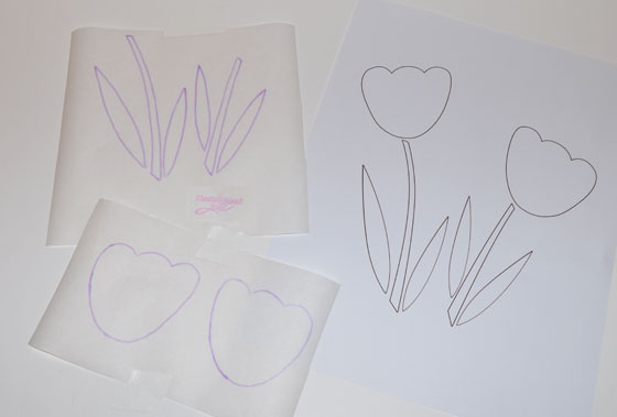 Trace Design onto Paper Side of Fusible Web