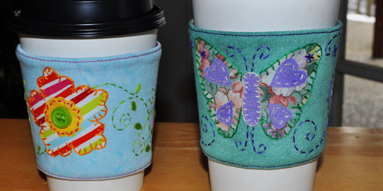 Applique Cup Cozy Samples
