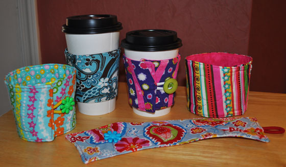 Various Cup Cozy Samples