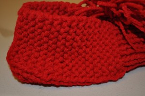 Knitted Bootie Foot Section