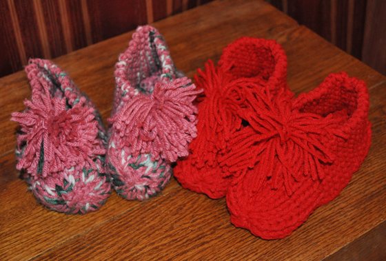 Grandmas Knitted Booties Free Knitted Slipper Pattern Stitchwerx