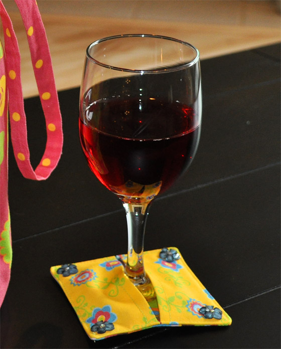 Wine Glass Slip-On Coaster