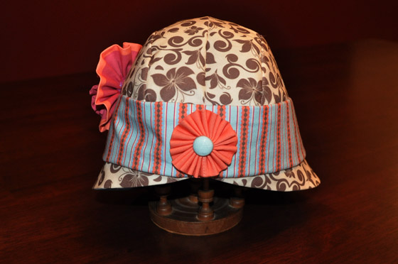 Stitchwerx Designs Cloche Hat Back View