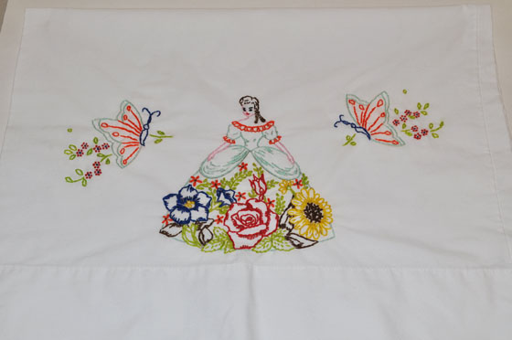 Vintage Pillowcase with Southern Belle