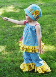 Cloche Hat, Ruffle Pants and Pillowcase Top Pattern Bundle