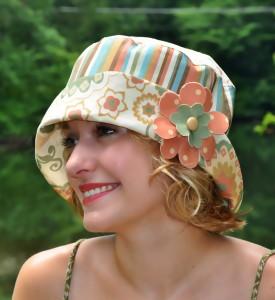 Summer Days Bucket Hat with Flower pattern