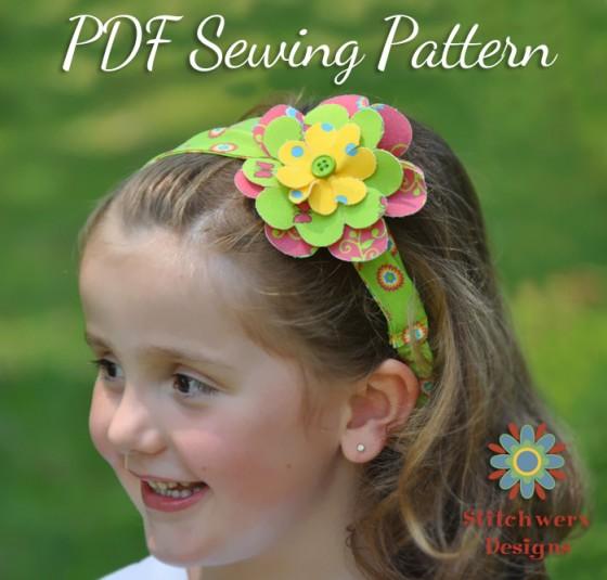Headband & bows sewing pattern
