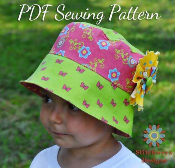Summer Days Bucket Hat Sewing Pattern