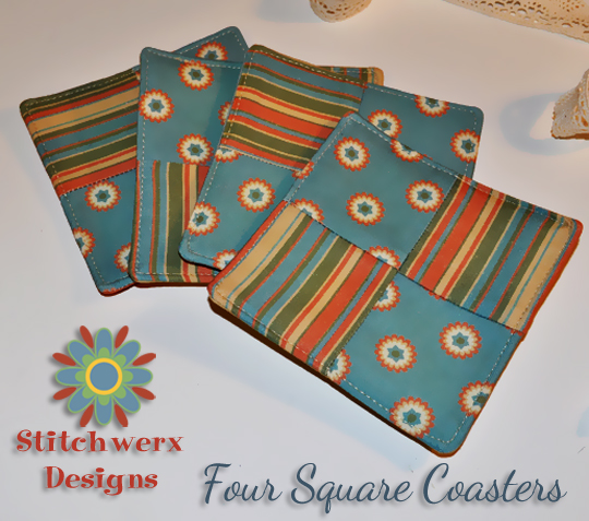 Four Square Coasters Free Tutorial