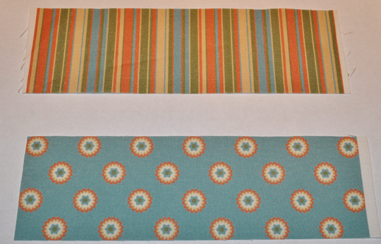 "Cut fabric strips 2 1/2"" wide"