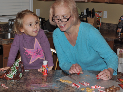 Cutting Up and Having Fun During Holiday Treat Activities