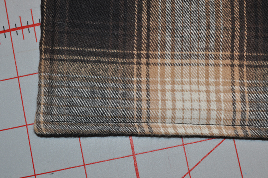 "Top Stitch 1/4"" all around"