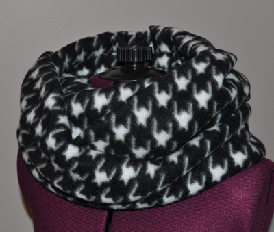 Finished Fleece Infinity Scarf
