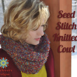 Seed Stitch Knitted Cowl