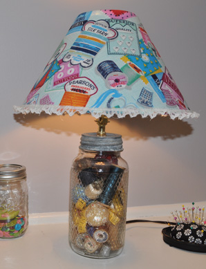 Finished Glass Jar Lamp
