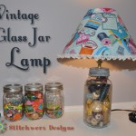 Vintage Glass Jar Lamp