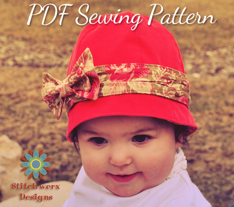 Stitchwerx Designs Azalea Cloche Sewing Pattern
