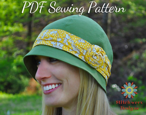 Stitchwerx Designs Azalea Cloche PDF Sewing pattern
