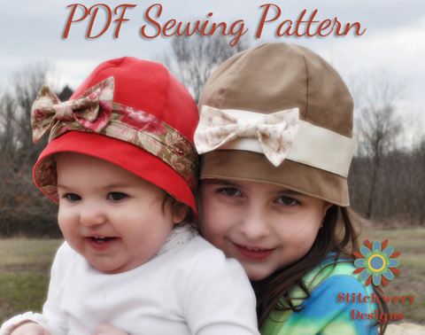 Azalea Cloche Hat Digital PDF Sewing Pattern