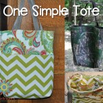 One Simple tote Free Tutorial