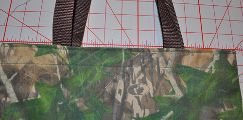 camo tote construction