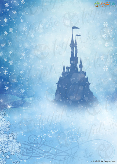 Frozen Inspired Ice Castle Photo backdrop