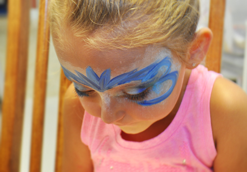 Ice Princess Face Painting