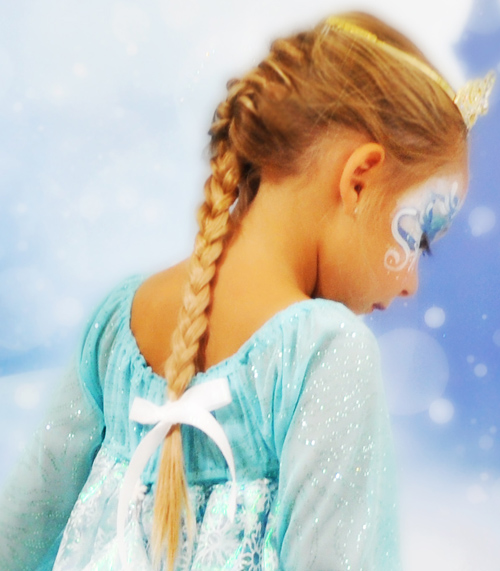 Princess Elsa hair braid