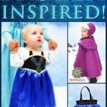 Frozen Inspired Princess Anna Dress, Cape & Hat