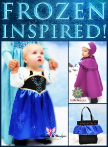 Frozen Inspired Princess Anna Dress, Cape & Hat
